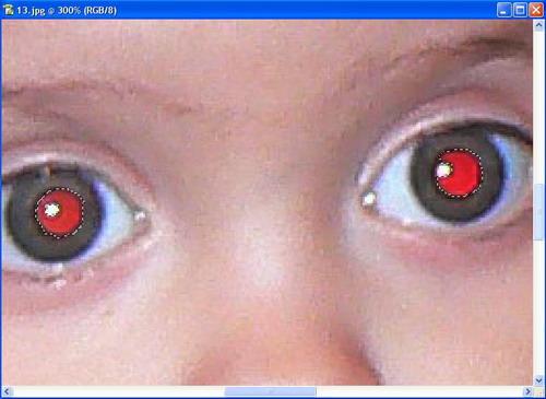 Как сделать эффект красных глаз фото 639